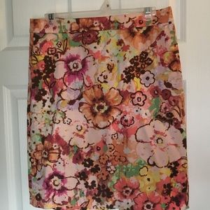 JCrew floral Spring pencil skirt size 4